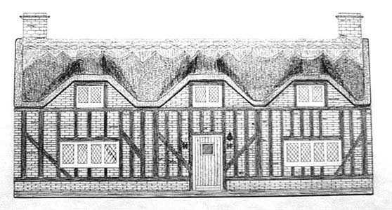 Pen Ink English Cottage